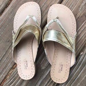 🌸Rachel Roy Gold Flip Flop Sandals